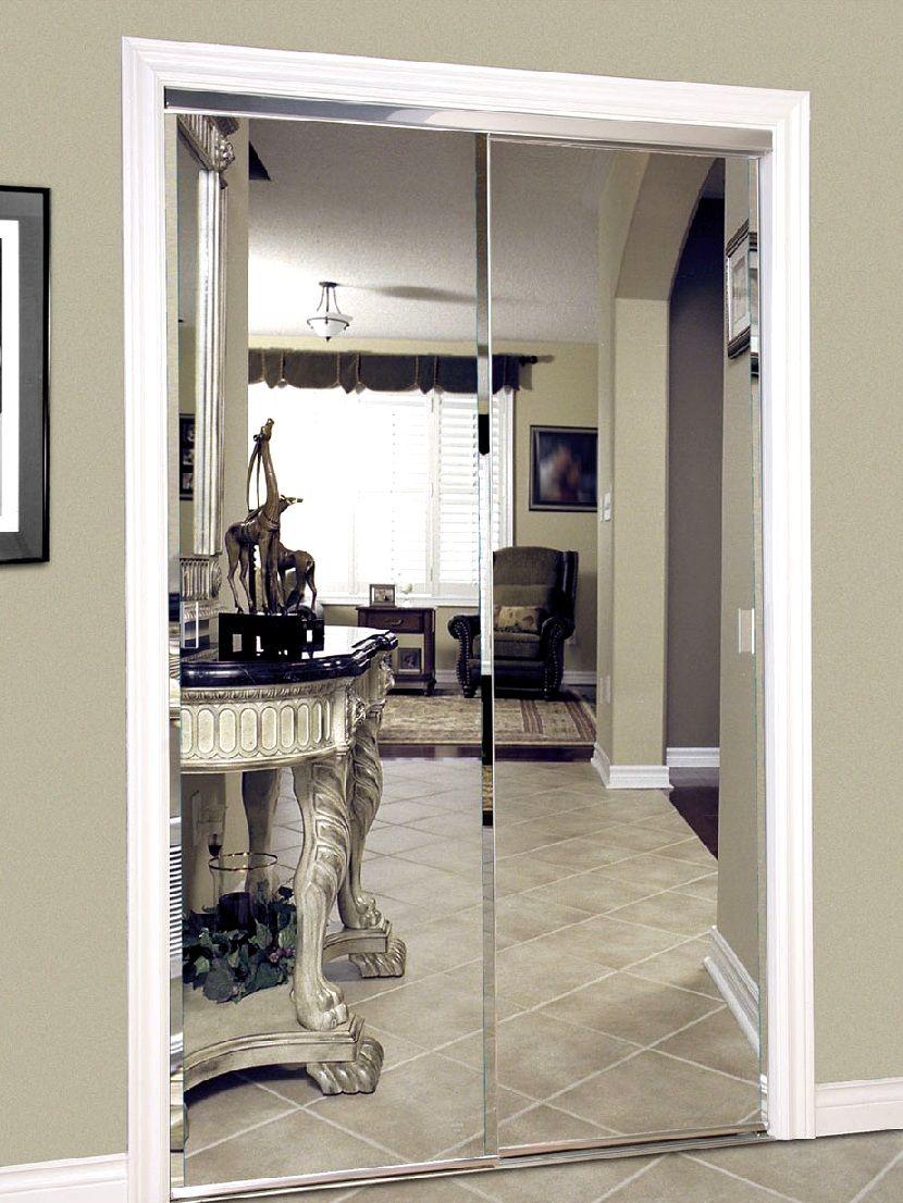 Межкомнатные зеркальные раздвижные двери