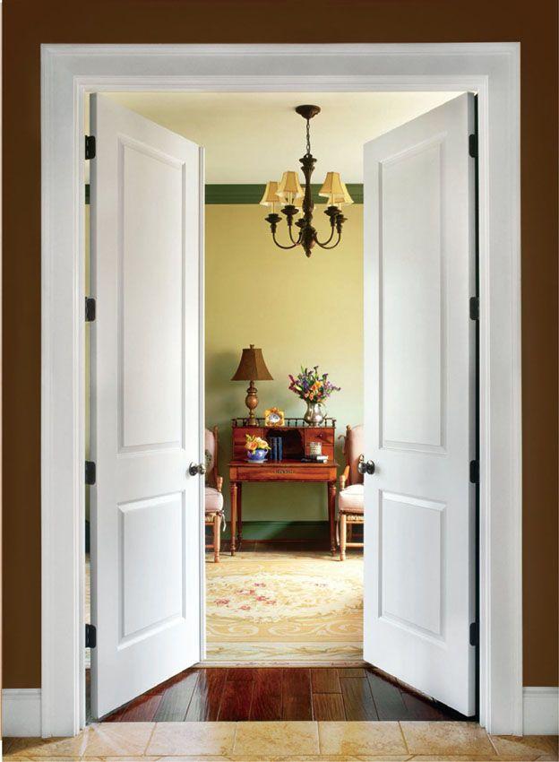 Распашные конструкции дверей с двумя створками
