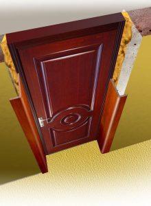 Установка доборов для входной двери