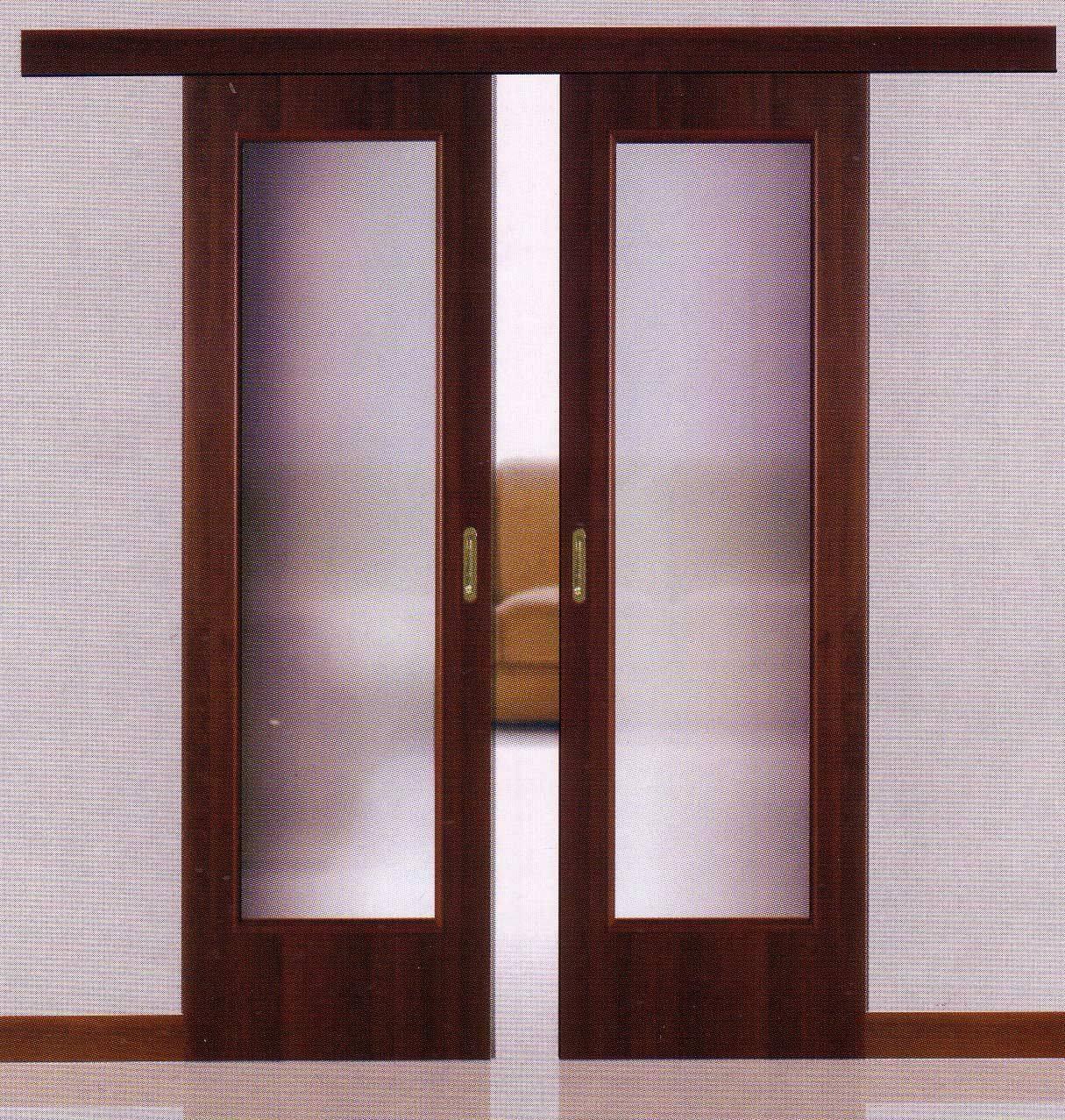 Двери раздвижные двухстворчатые