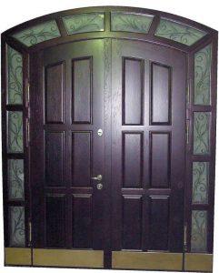 Двойные металлические входные двери
