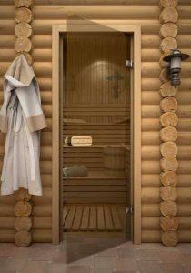 Стеклянные двери для парилки
