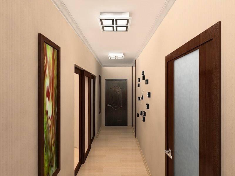 Установлены тёмные двери светлый пол