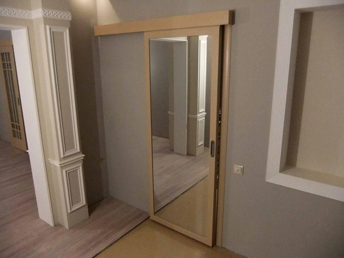 Зеркальные двери в комнате