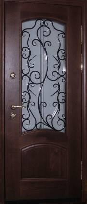 Кованые двери со стеклянными вставками