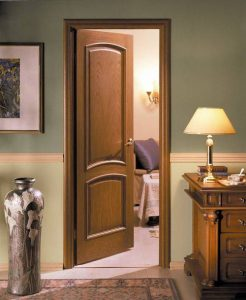 Двери межкомнатные цвета орех