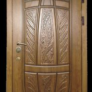 Металлические двери с отделкой мдф