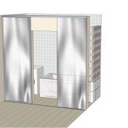 Развижные двери в ванную комнату