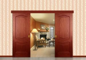Раздвижная двойная межкомнатная дверь