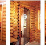 Двери для сауны стеклянные декорированные