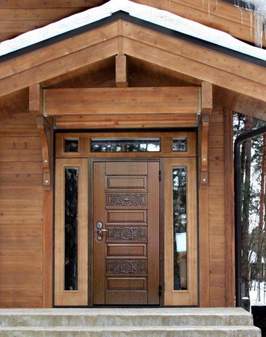 Как установить входную металлическую дверь в деревянном доме