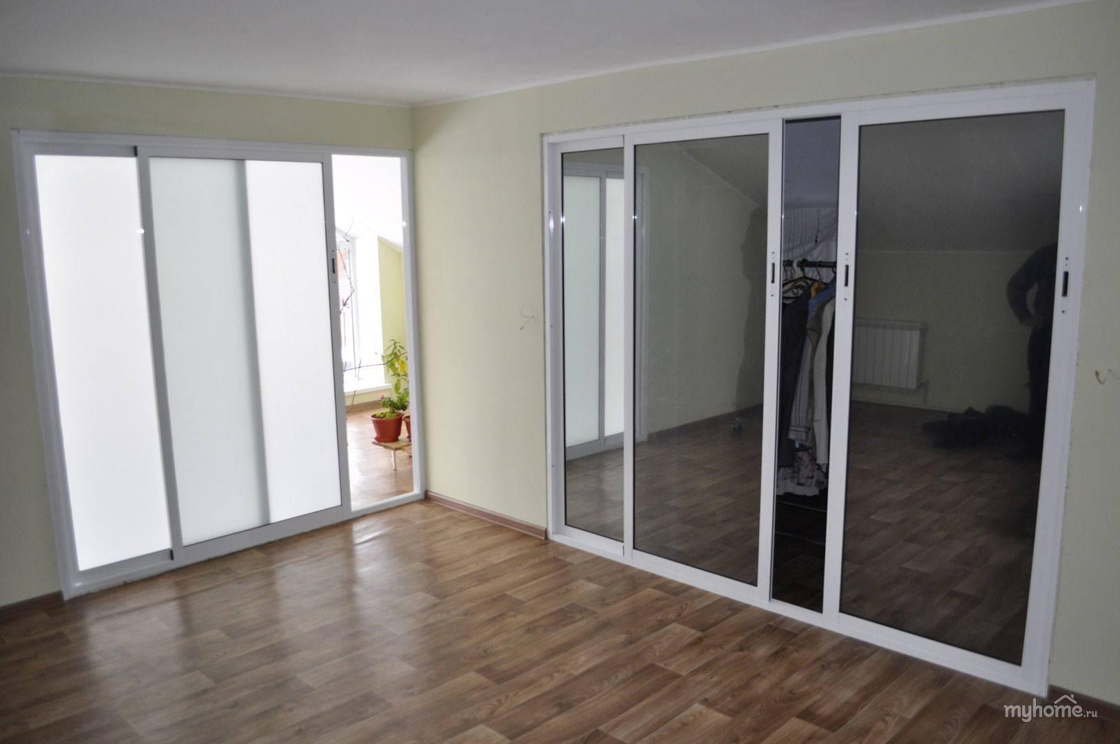 Устанавливаем раздвижные алюминиевые двери