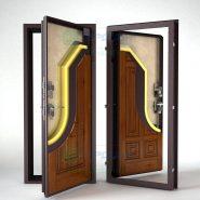 Утеплённые металлические входные двери