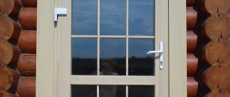 Входные металопластиковые двери для деревянного дома