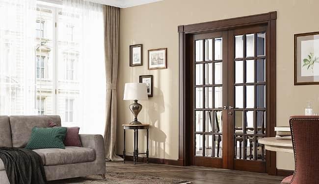 двойные двери в зал фото