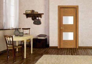 Двери миланский орех со стеклом