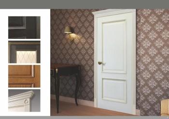 Филенчатые белые двери