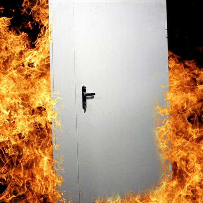противопожарная дверь в огне