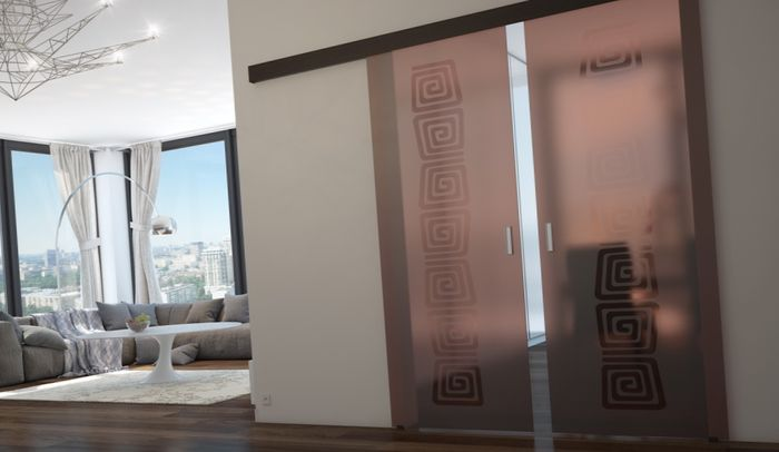 стеклянная межкомнатная дверь